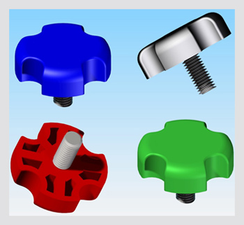 threaded quad knob