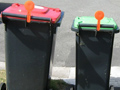 wheelie bin flags