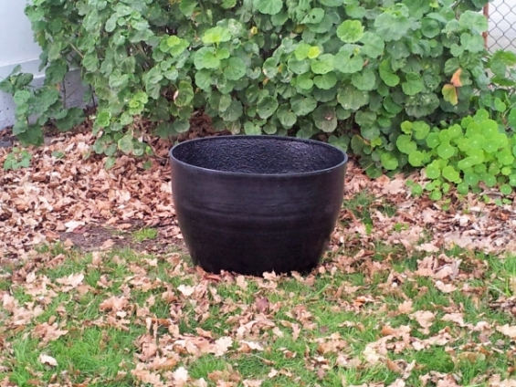 Large planter pot fish pond for Pond in a pot with fish